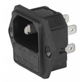 Prise IEC porte fusible 1 pôle ref. 6200-2100 Schurter