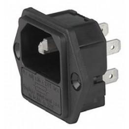Prise IEC porte fusible 1 pôle ref. 6200-2300 Schurter