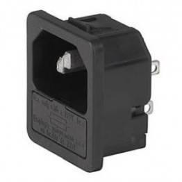 Prise IEC porte fusible 1 pôle ref. 6200-4120 Schurter