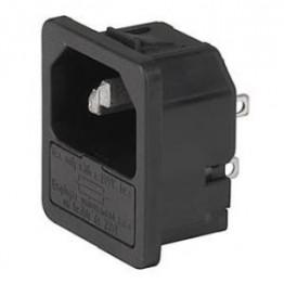 Prise IEC porte fusible 1 pôle ref. 6200-4325 Schurter