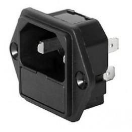 Prise IEC C18 10A 250V  ref. 6202-2100 Schurter