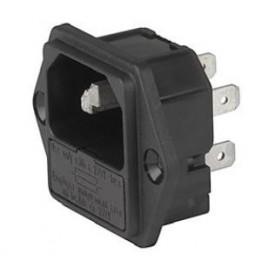 Prise IEC C14 10A 250V ref. 6205-4112 Schurter