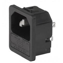 Prise IEC C14 10A 250V ref. 6205-4220 Schurter