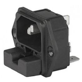 Prise IEC C14 10A 250V ref. 6220-2100 Schurter