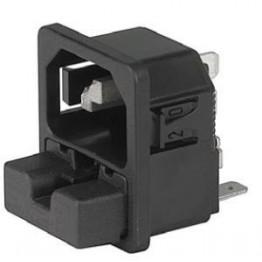 Prise IEC C14 10A 250V ref. 6220-5210 Schurter