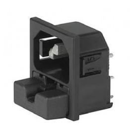 Prise IEC C14 10A 250V ref. 6255-5520 Schurter