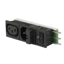 Prise IEC C14 M/F avec inter ref. 6432-0253-10 Schurter