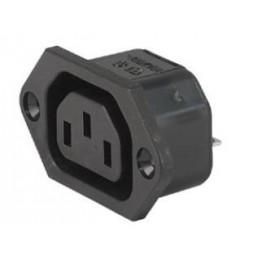 Fiche IEC type F 10A 250V ref. 6600-3200 Schurter