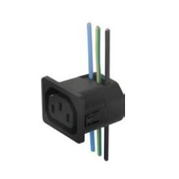 Fiche IEC type F 10A 250V ref. 6610-1012 Schurter