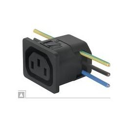 Fiche IEC type F 10A 250V ref. 6610-2154 Schurter