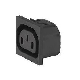 Fiche IEC type F 10A 250V ref. 6650-4510 Schurter