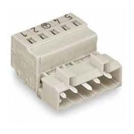 Connecteur mâle 2,5mm2 gris ref. 721-606 Wago