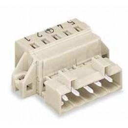 Connecteur mâle 2,5mm2 gris ref. 721-607/019-000 Wago