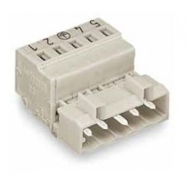 Connecteur mâle 2,5mm2 gris ref. 721-608 Wago