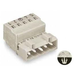 Connecteur mâle 2,5mm2 gris ref. 721-616/018-000 Wago