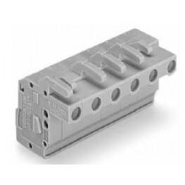 Connecteur femelle 2,5mm2 gris ref. 732-104/026-000 Wago