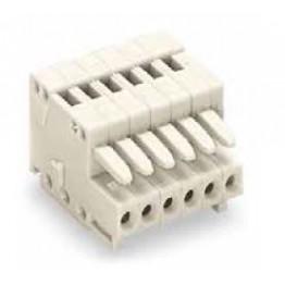 Connecteur femelle 0,5mm2 gris ref. 733-104 Wago
