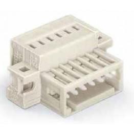 Connecteur mâle 1,5mm2 gris ref. 734-318/019-000 Wago