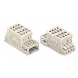 Connecteur mâle 1,5mm2 gris ref. 734-366 Wago
