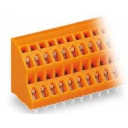 Barrette borne 2 étages orange ref. 736-412 Wago