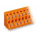 Barrette borne 2 étages orange ref. 736-606 Wago