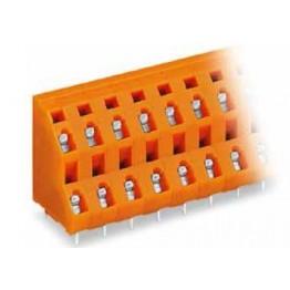 Barrette borne 2 étages orange ref. 736-608 Wago