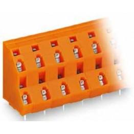 Barrette borne 2 étages orange ref. 736-862 Wago