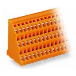 Barrette borne 3 étages orange ref. 737-608 Wago