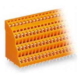 Barrette borne 4 étages orange ref. 738-304 Wago