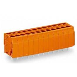 Barrette bornes 2,5mm2 orange ref. 739-174 Wago