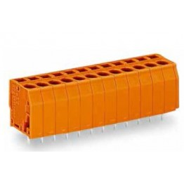 Barrette bornes 1,5mm2 orange ref. 739-338 Wago