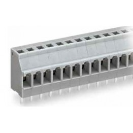 Barrette à bornes 2,5mm2 grise ref. 740-107 Wago