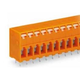 Barrette bornes 2,5mm2 Orange ref. 741-204 Wago