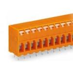 Barrette bornes 2,5mm2 Orange ref. 741-208 Wago