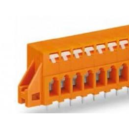 Barrette bornes 2,5mm2 Orange ref. 741-233 Wago