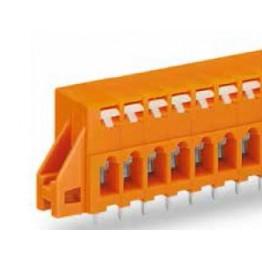 Barrette bornes 2,5mm2 Orange ref. 741-246 Wago