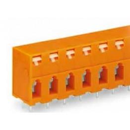 Barrette bornes 2,5mm2 Orange ref. 741-406 Wago