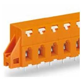 Barrette bornes 2,5mm2 Orange ref. 741-424 Wago