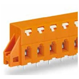 Barrette bornes 2,5mm2 Orange ref. 741-429 Wago