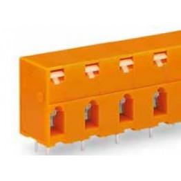 Barrette bornes 2,5mm2 Orange ref. 741-604 Wago