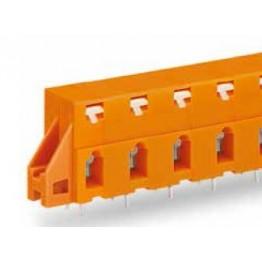 Barrette bornes 2,5mm2 Orange ref. 741-624 Wago