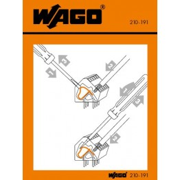 Autocollant  ref. 210-406 Wago