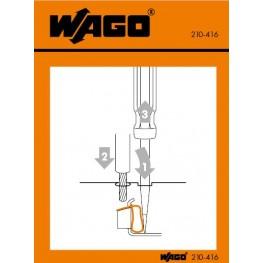 Autocollant  ref. 210-416 Wago