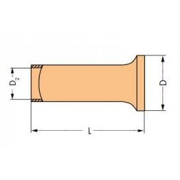 Embout étamé 6 mm2 ref. 216-108 Wago