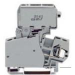 Borne à fusible grise 4mm2 ref. 281-623 Wago