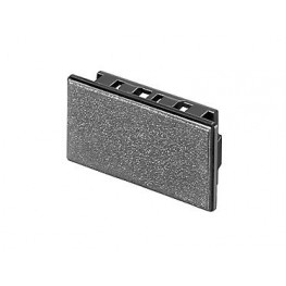 Obturateur rectangulaire Gris ref. 039498 EAO secme